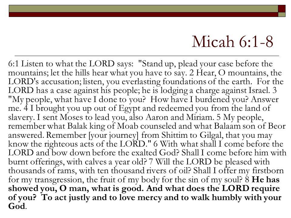 Micah 6:1-8