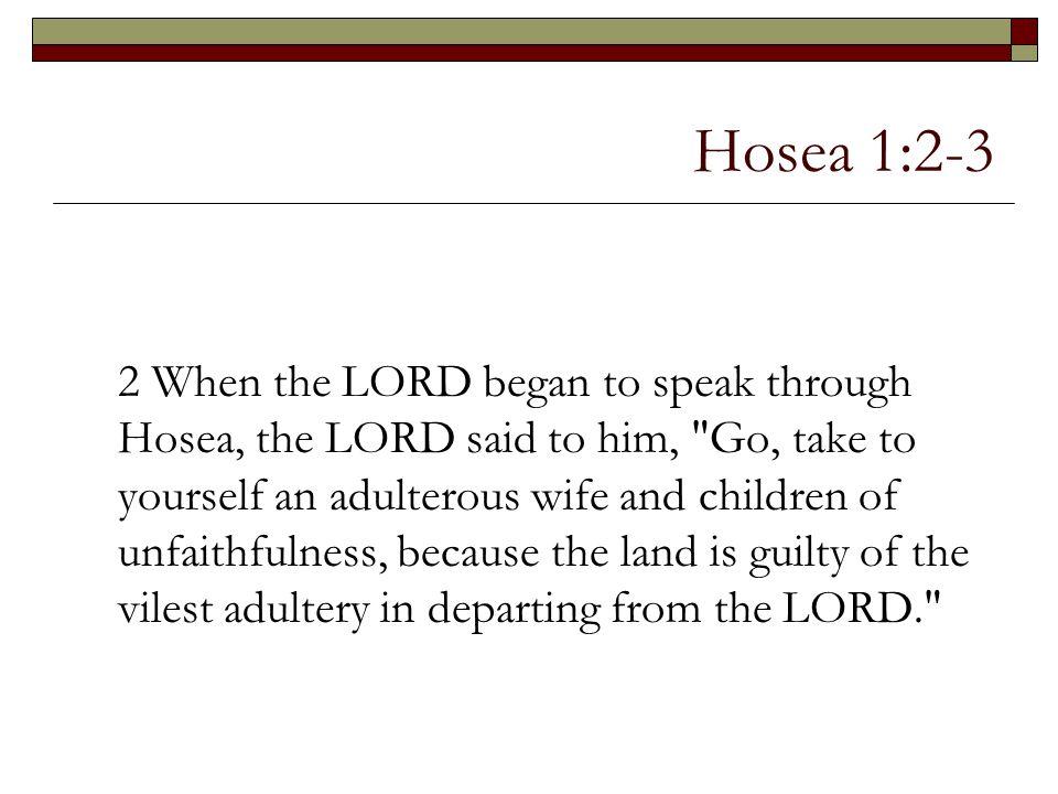Hosea 1:2-3