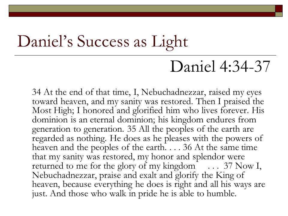 Daniel's Success as Light