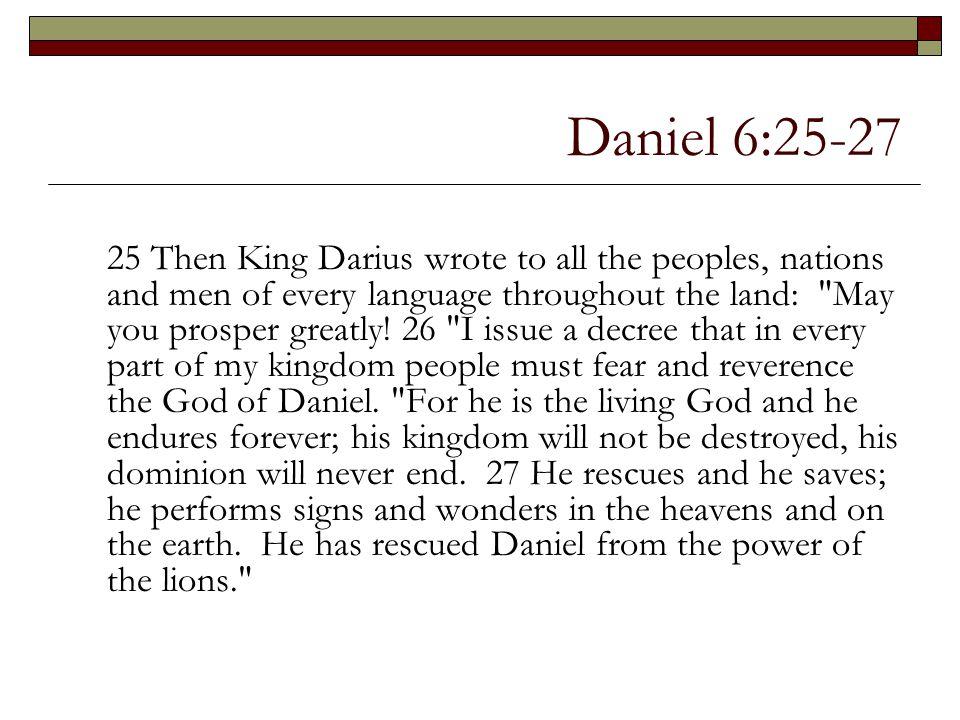 Daniel 6:25-27