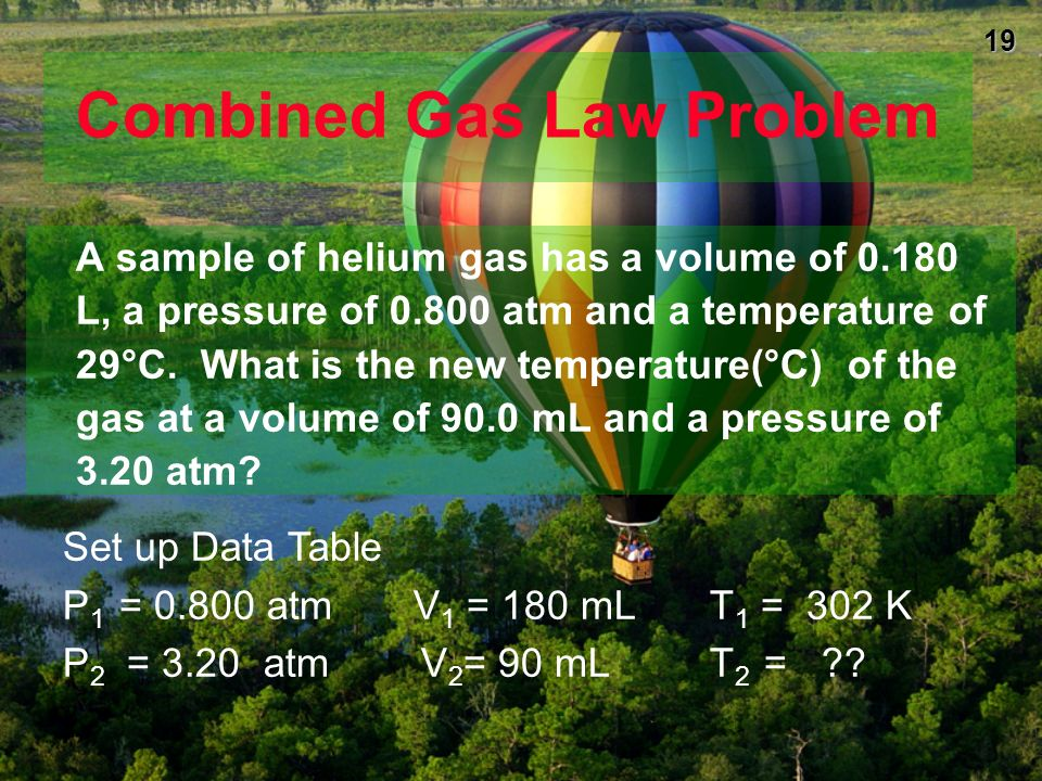 Combined Gas Law Problem
