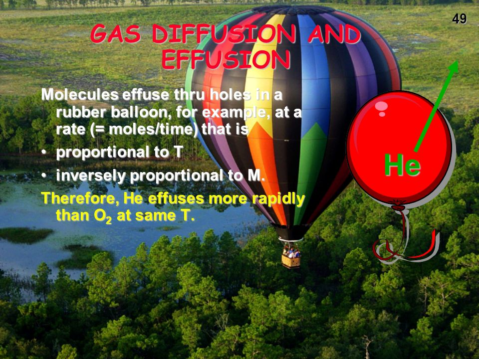 GAS DIFFUSION AND EFFUSION