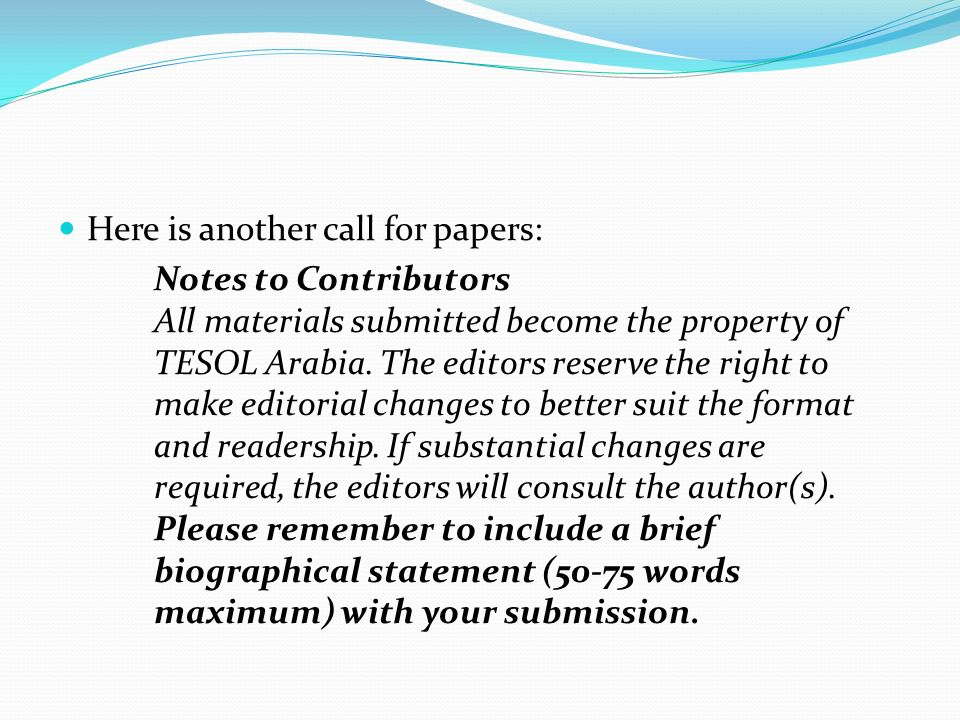 Here is another call for papers: