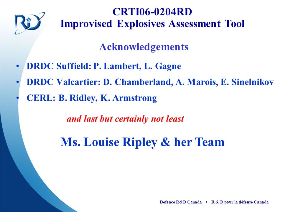 Ms. Louise Ripley & her Team