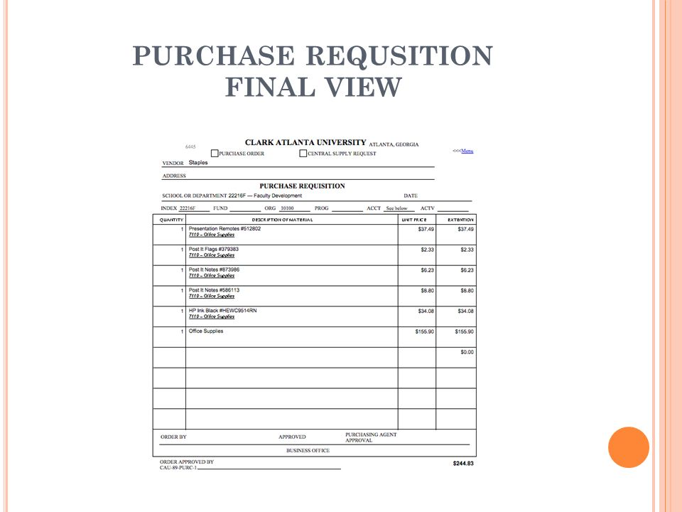 PURCHASE REQUSITION FINAL VIEW