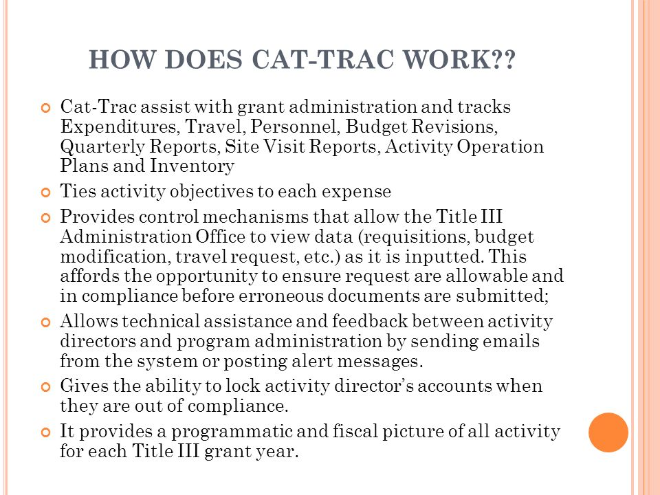 HOW DOES CAT-TRAC WORK