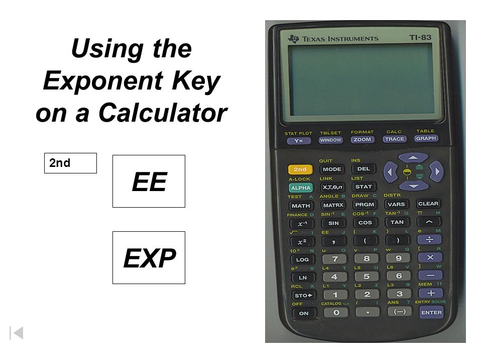 Using the Exponent Key on a Calculator