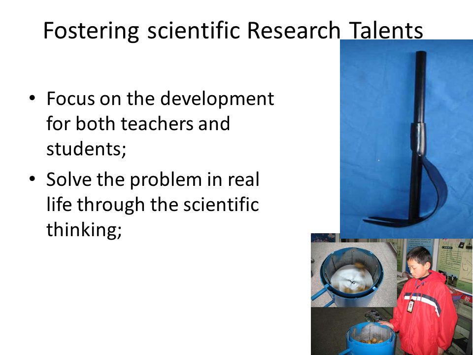 Fostering scientific Research Talents