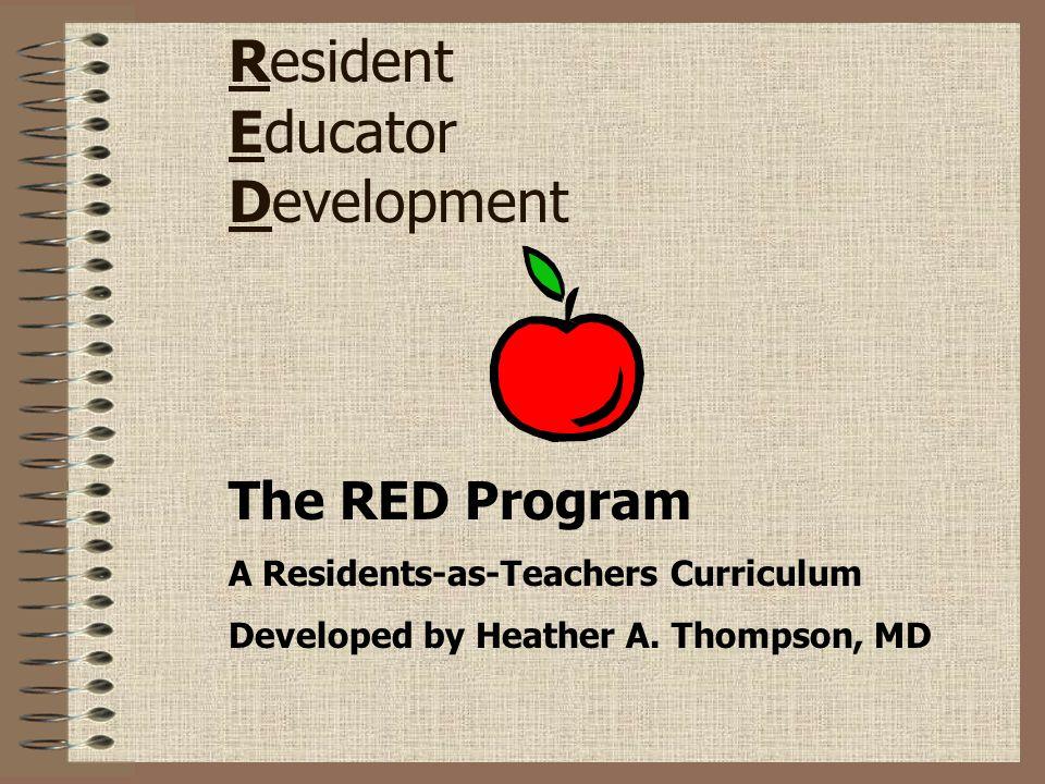 Resident Educator Development
