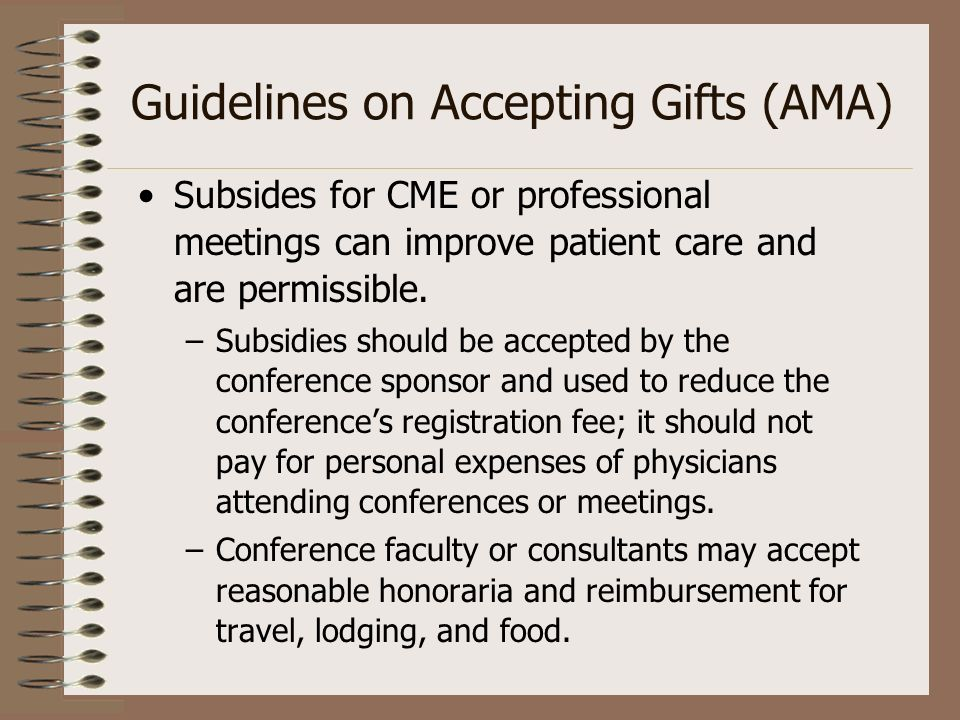 Guidelines on Accepting Gifts (AMA)