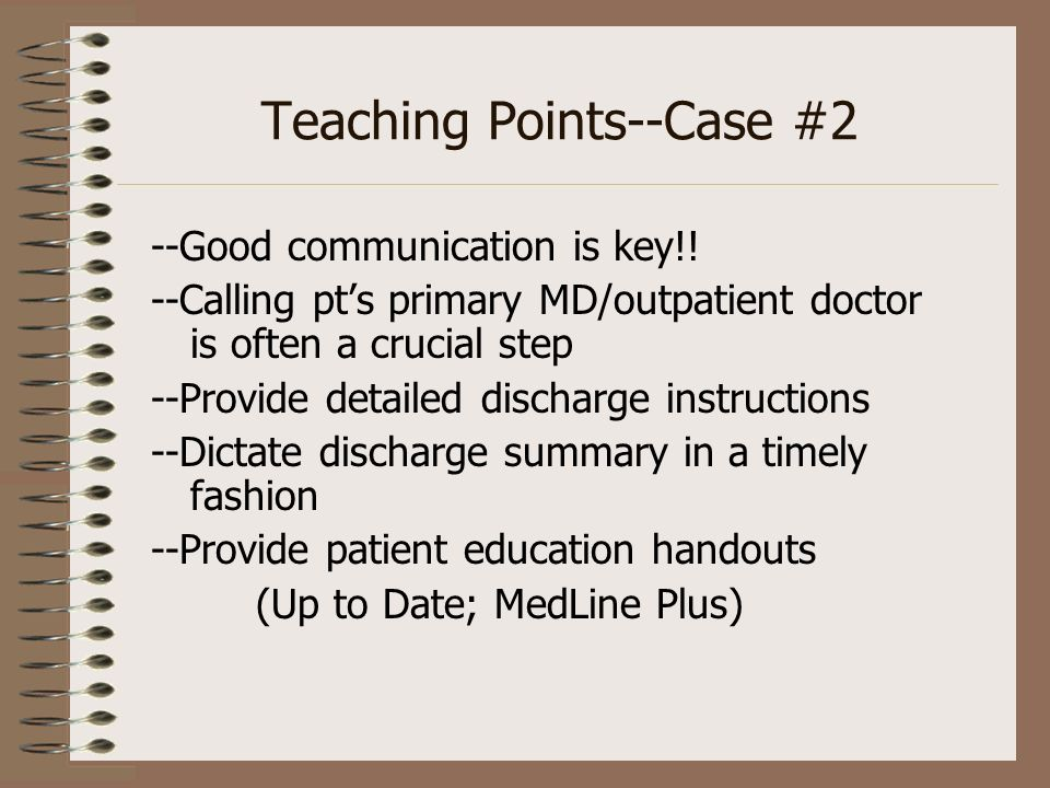 Teaching Points--Case #2