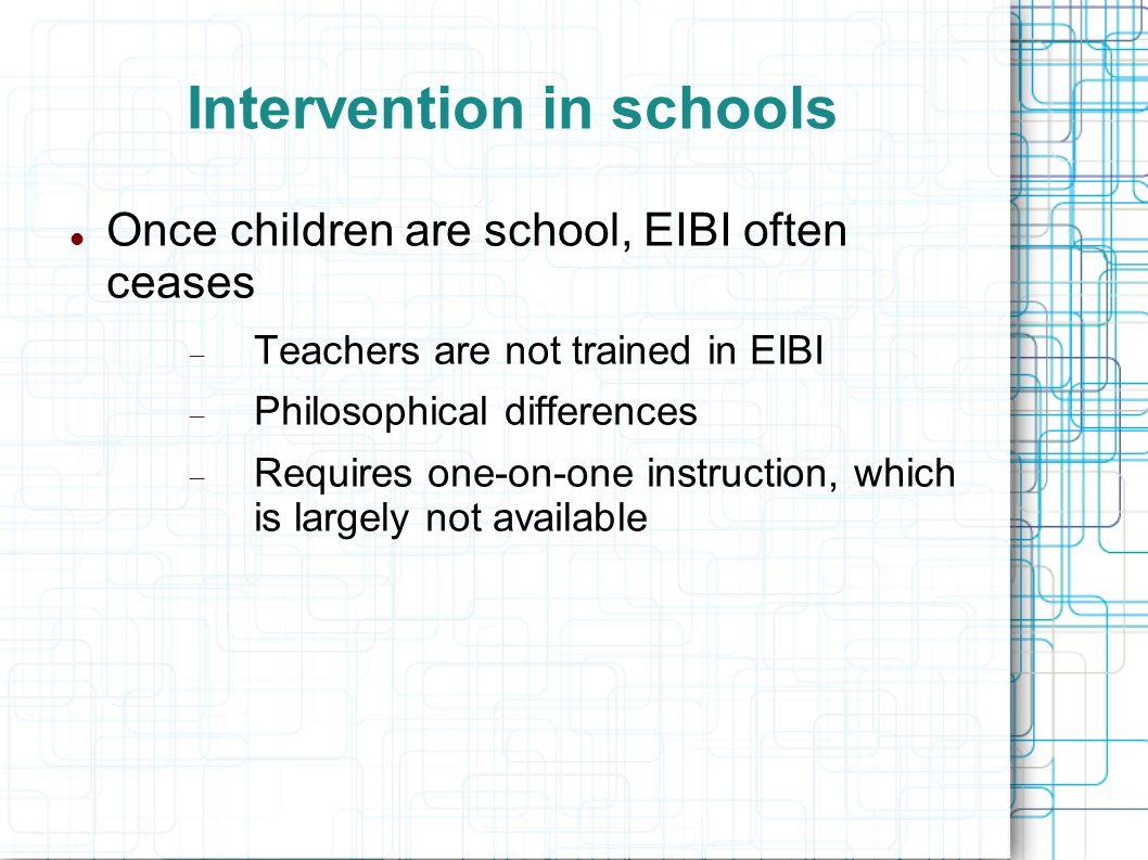 Intervention in schools