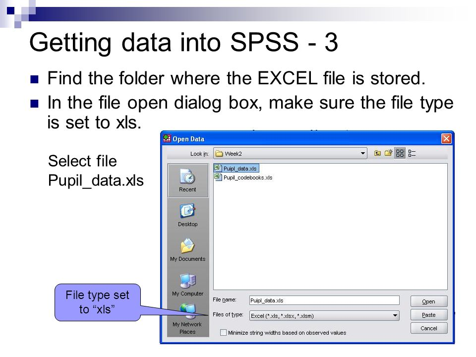 Getting data into SPSS - 3