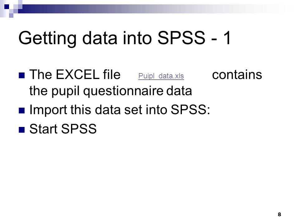 Getting data into SPSS - 1