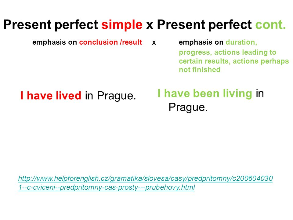 Present perfect simple x Present perfect cont
