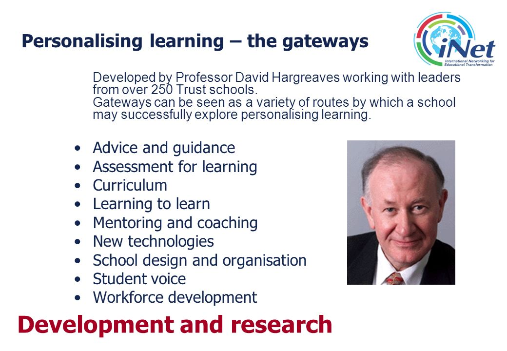 Personalising learning – the gateways