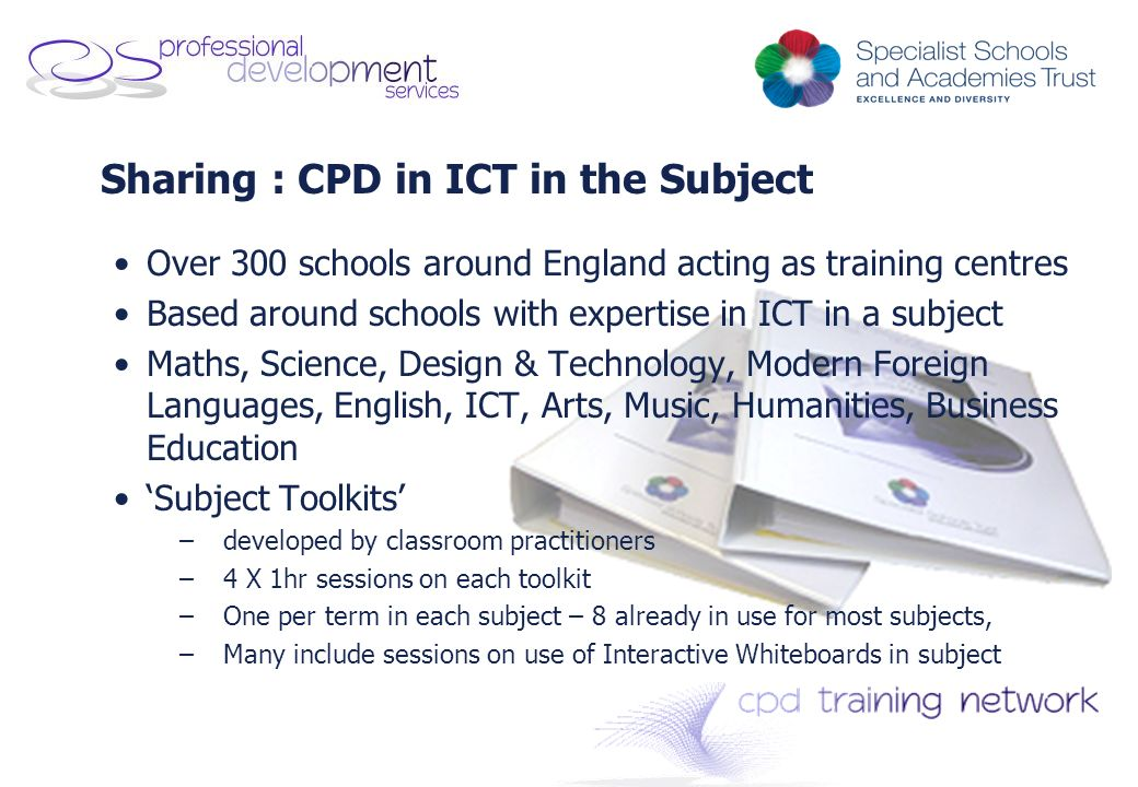 Sharing : CPD in ICT in the Subject