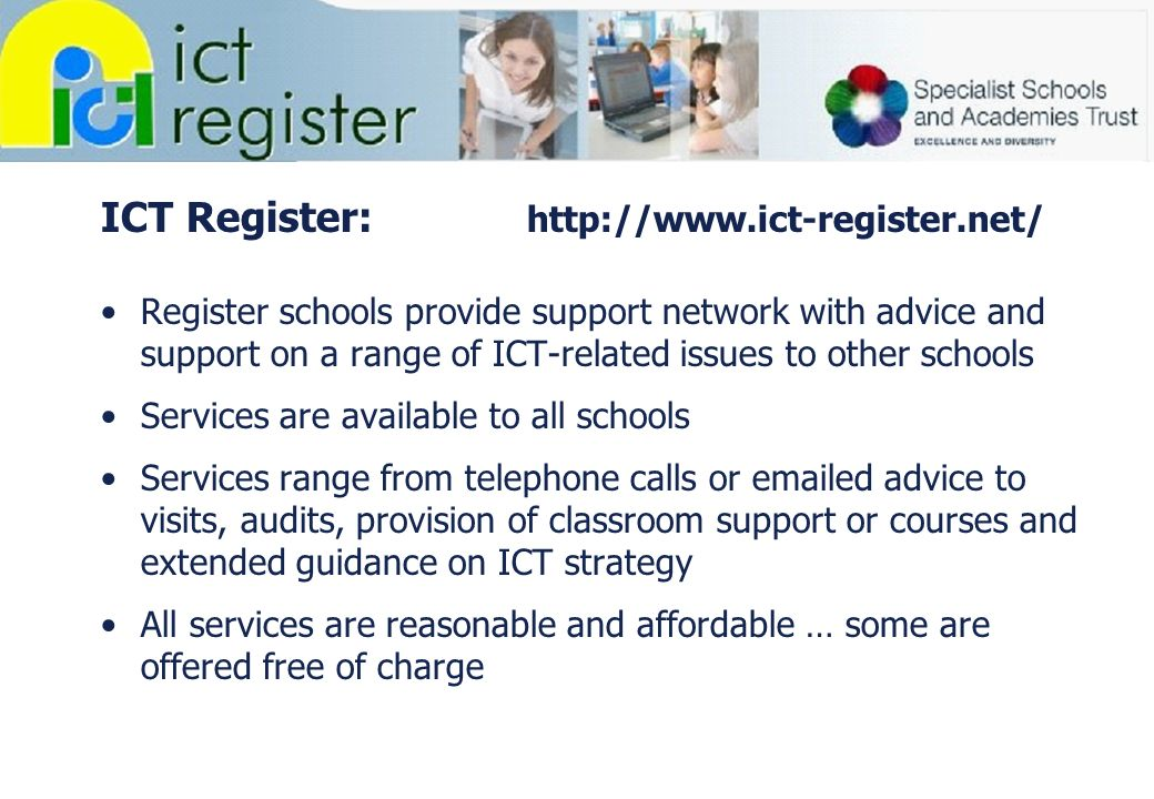 ICT Register: http://www.ict-register.net/