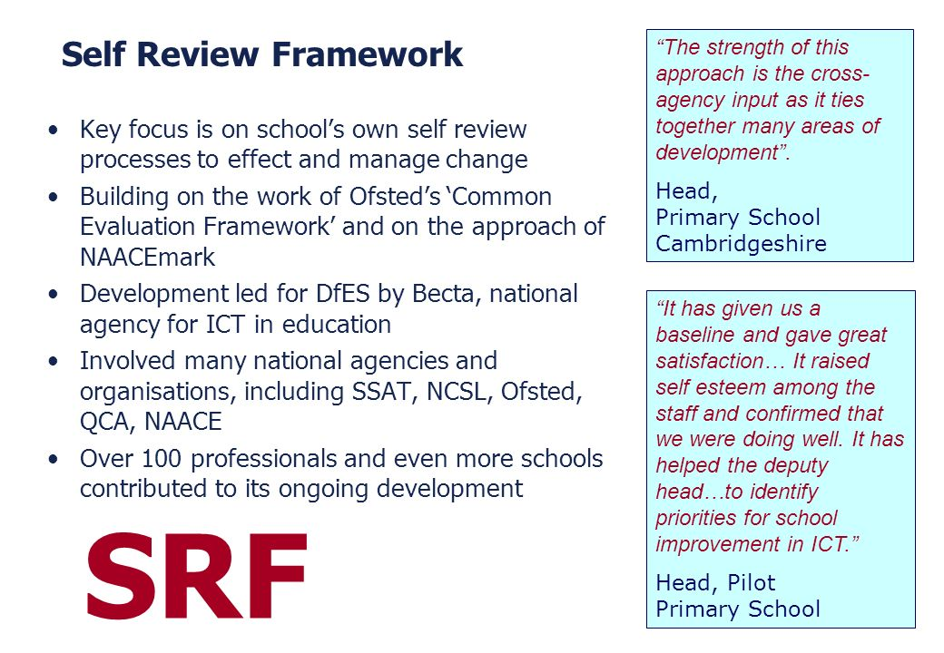 SRF Self Review Framework