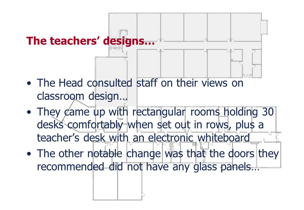 The teachers' designs…