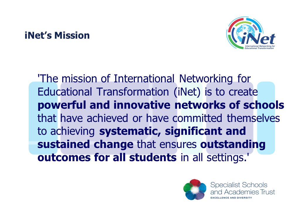 iNet's Mission