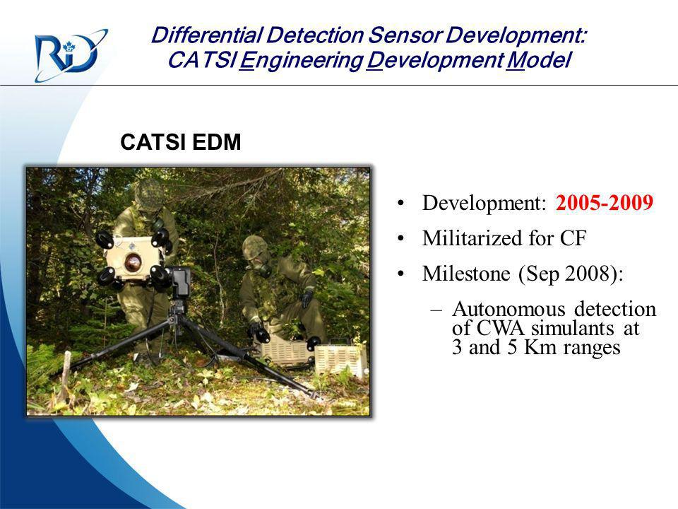 Autonomous detection of CWA simulants at 3 and 5 Km ranges