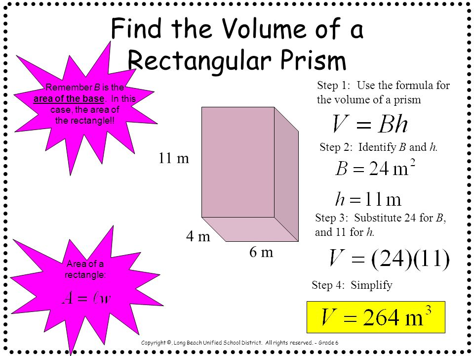 Find the Volume of a Rectangular Prism