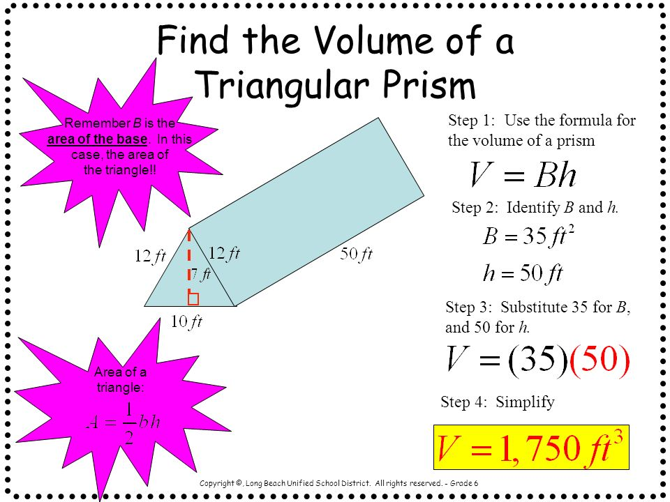 Find the Volume of a Triangular Prism