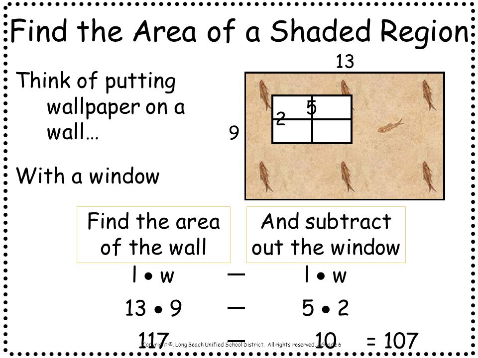 Find the Area of a Shaded Region