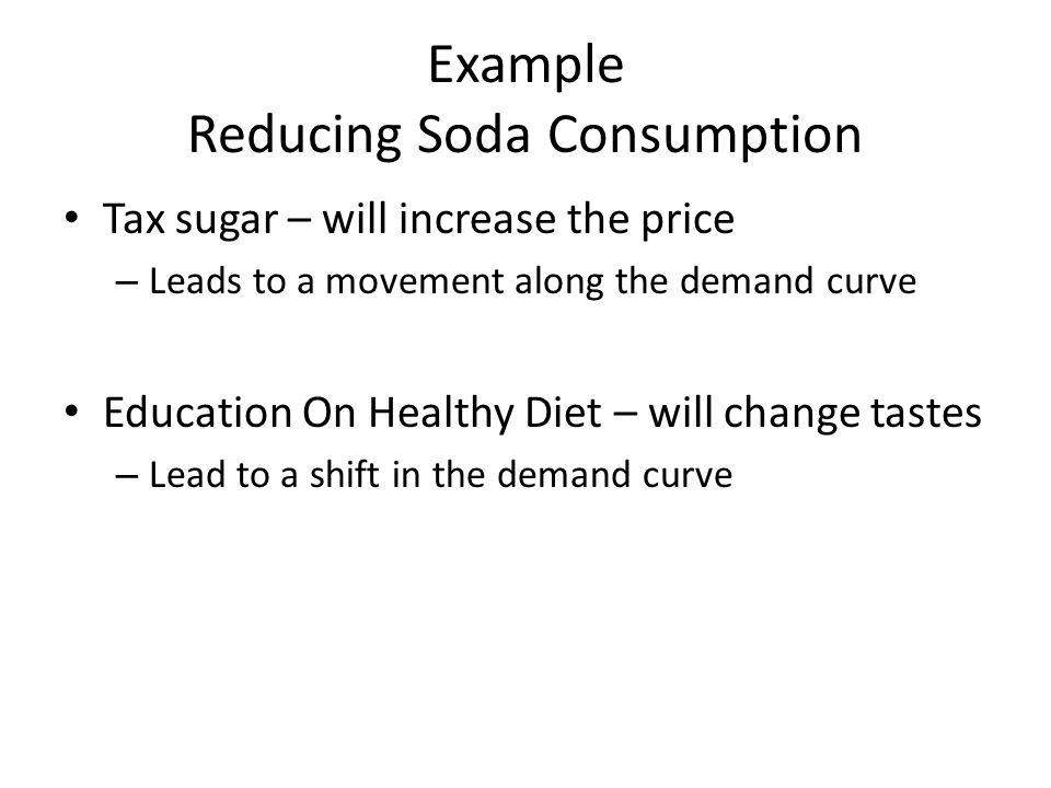 Example Reducing Soda Consumption