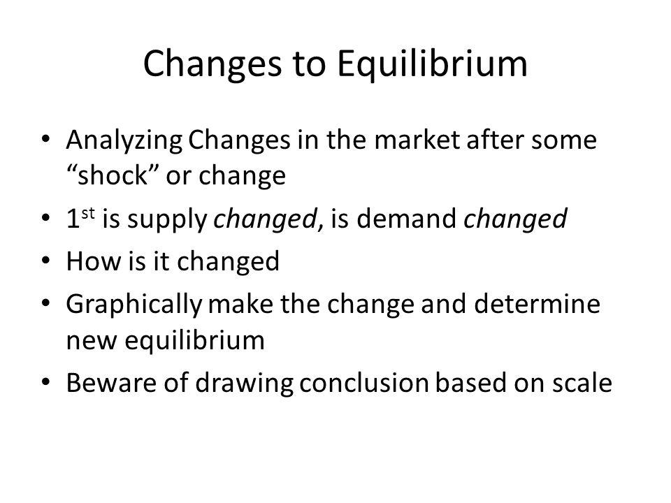 Changes to Equilibrium