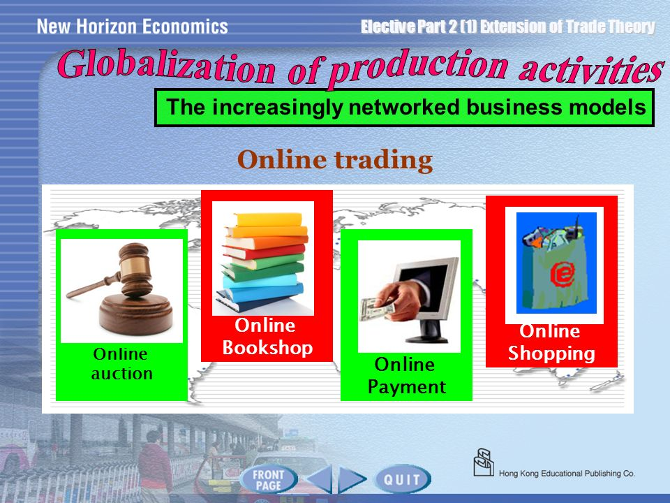 Globalization of production activities