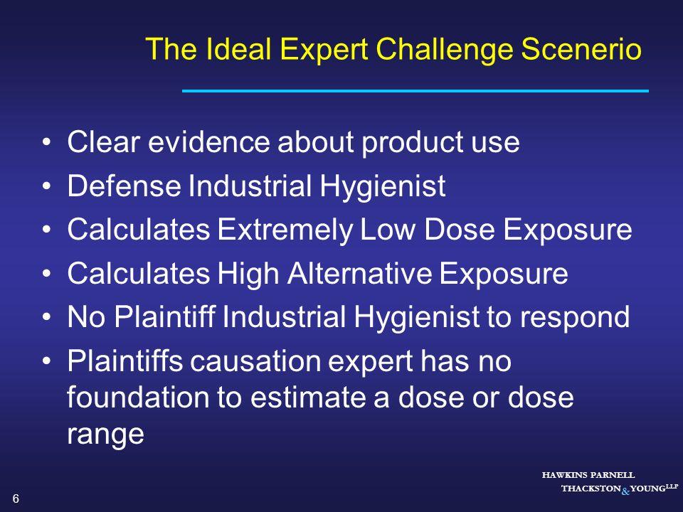 The Ideal Expert Challenge Scenerio