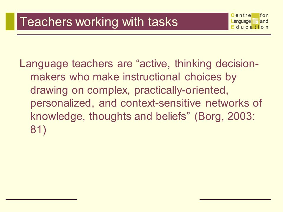 Teachers working with tasks