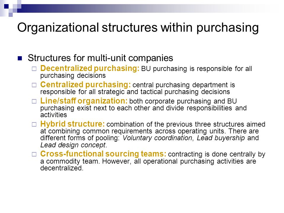 What Are the Advantages of a Centralized Structure?