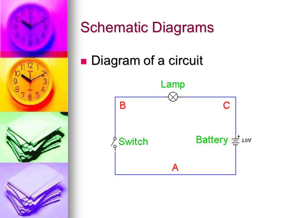 Schematic Diagrams Diagram of a circuit