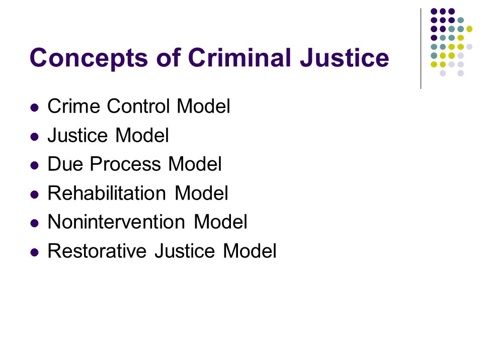 Concepts of Criminal Justice