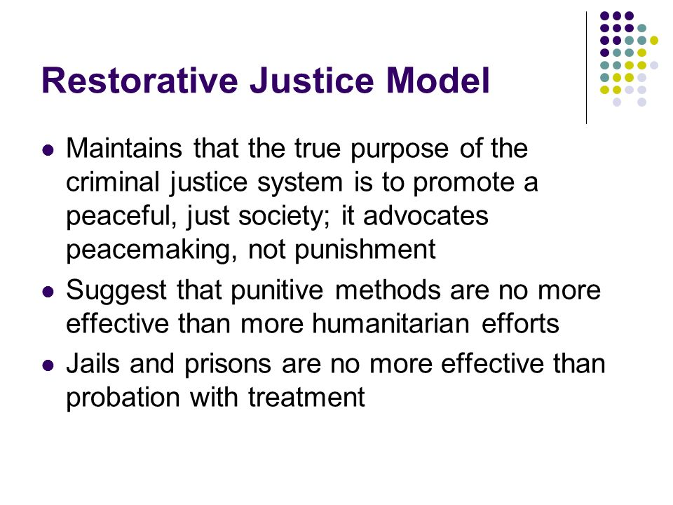 Restorative Justice Model