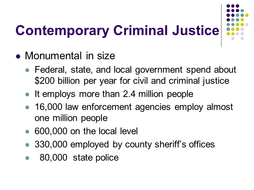 Contemporary Criminal Justice