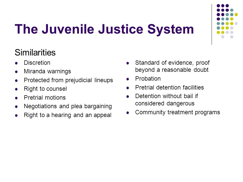 history of the juvenile justice system essay The effectiveness of the juvenile justice system the american juvenile justice system was designed over 100 years ago to reform kids who were found guilty of minor crimes such as petty theft and truancy today, the system is becoming overwhelmed by crimes of violence.