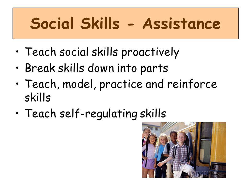 Social Skills - Assistance
