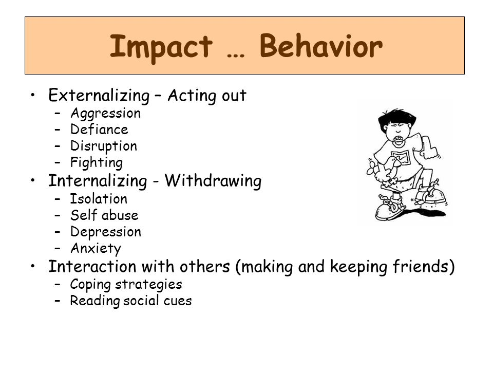 Impact … Behavior Externalizing – Acting out