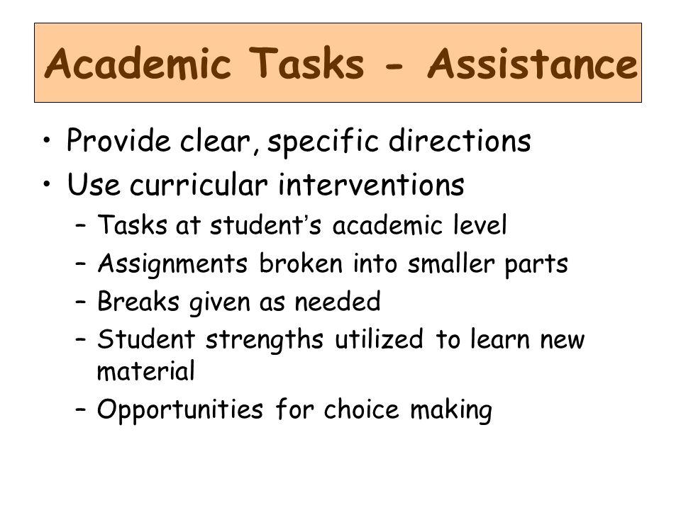 Academic Tasks - Assistance