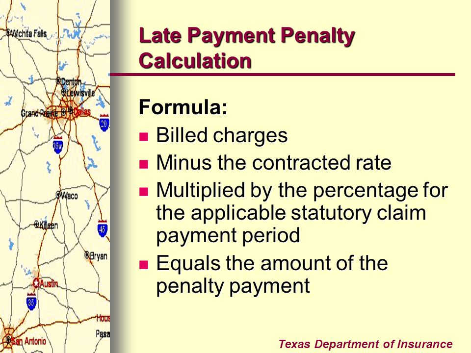 Late Payment Penalty Calculation