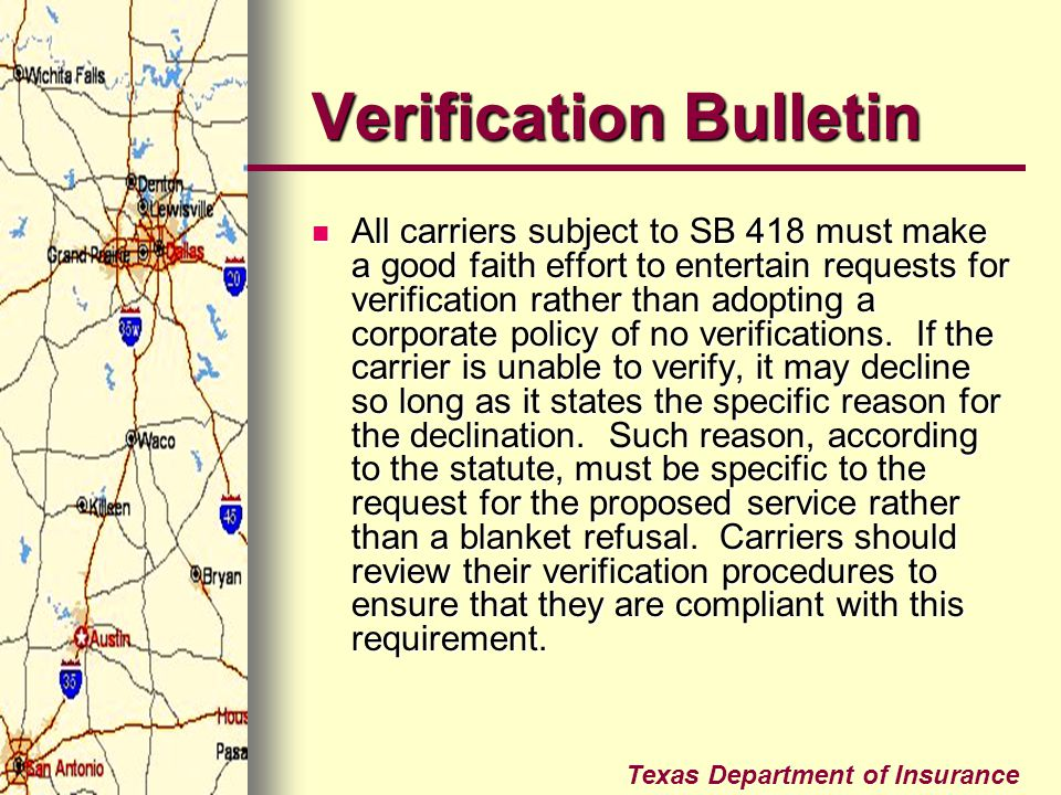 Verification Bulletin