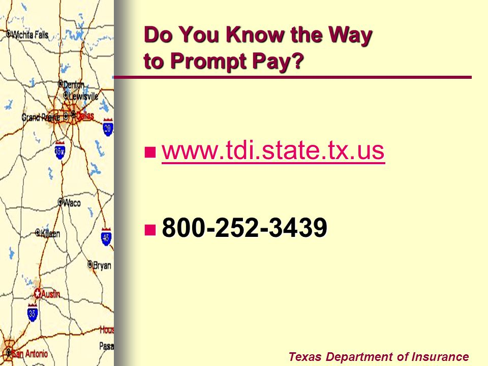 Do You Know the Way to Prompt Pay