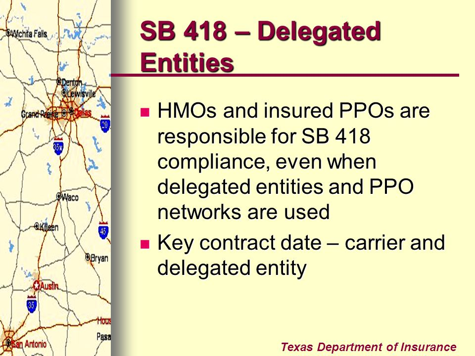 SB 418 – Delegated Entities