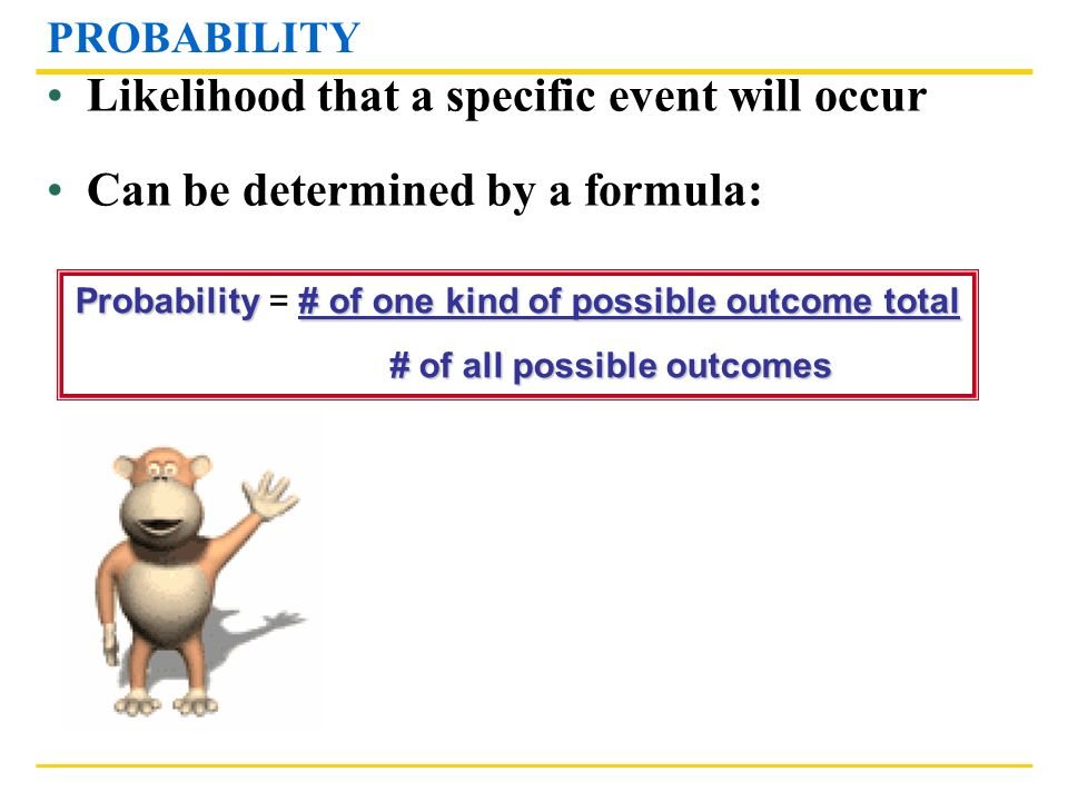 # of all possible outcomes