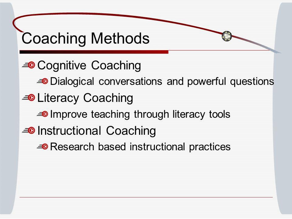 Coaching Methods Cognitive Coaching Literacy Coaching
