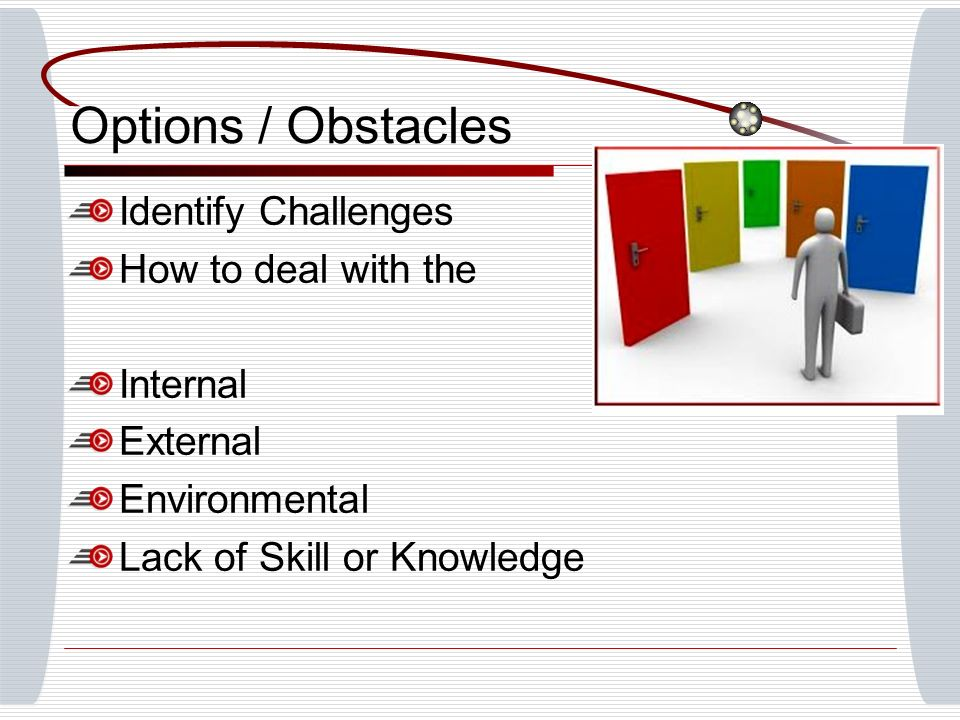 Options / Obstacles Teachers must evaluate type of feedback needed for students.